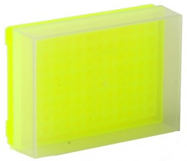 fluorescent-yellow-pcr-rack-with-lid